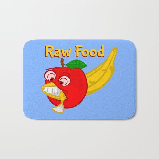 Raw Foods Food Fight Bath Mat