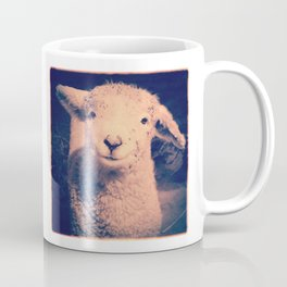 Innocence (Smiling White Baby Sheep) Coffee Mug