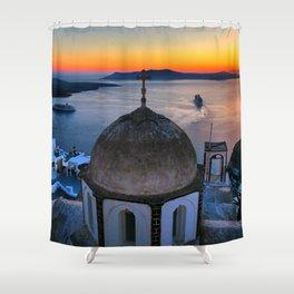 Santorini 21 Shower Curtain