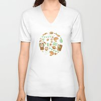 football V-neck T-shirts featuring Football! by Jessica Giles