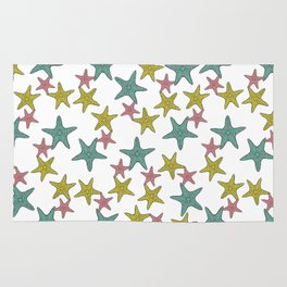 starfish tropical print Rug