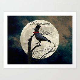 And the Raven Said, Nevermore (Inspired by The Raven) A657 Art Print