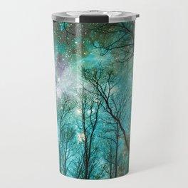 Black Trees Mint Blue Mauve Space Travel Mug