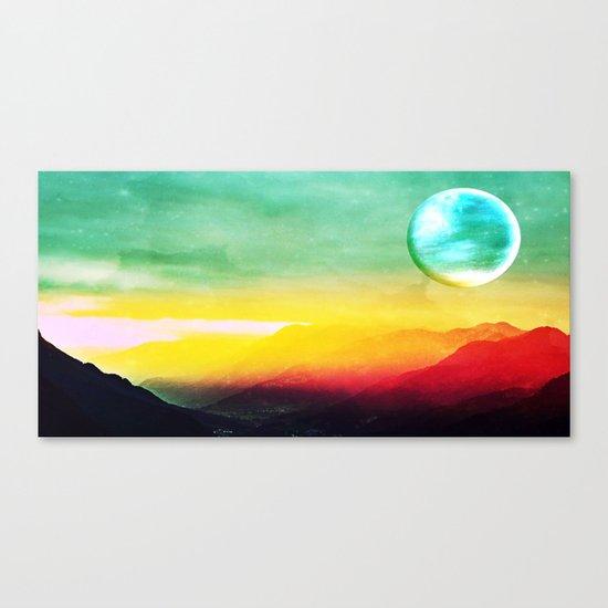 Luna verde Canvas Print