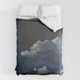 Awesome Full Moon Above Cloudy Sky Cartoon Scenery Ultra High Resolution Comforters