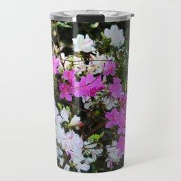 White And Pink Azaleas Travel Mug