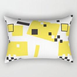 Abstract Yellow Taxi Cab Rectangular Pillow