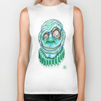 clown Biker Tanks featuring Clown by Kikillustration