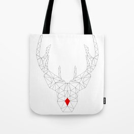 Red Nosed Reindeer Tote Bag