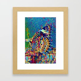 Butterfly Pizazz | Oil Painting Framed Art Print