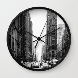 City Street Wall Clock