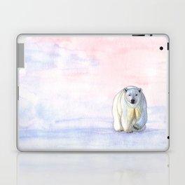 Polar bear in the icy dawn Laptop & iPad Skin