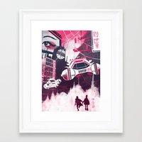 blade runner Framed Art Prints featuring Blade Runner by Noah MacMillan