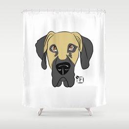 Faun Great Dane Face Shower Curtain