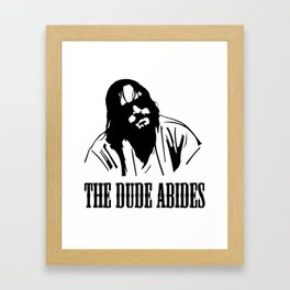 The Dude Abides The Big Lebowski Framed Art Print