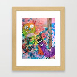 Mr. Grumpy Pants - Quirky Bird Series Framed Art Print