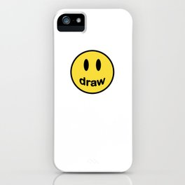 Draw More, Be Happy - Design Smiles for Artists and Designers iPhone Case