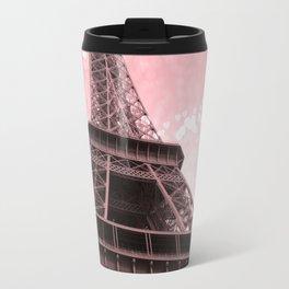 Paris Pink Eiffel Tower Travel Mug