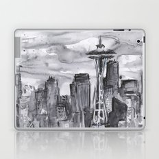 Seattle Skyline Watercolor Space Needle Washington PNW Laptop & iPad Skin