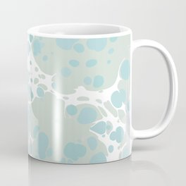 Soft Pastel turquoise and mint green spilled paint bubbles effect Coffee Mug