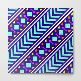 Native patchwork pattern Metal Print