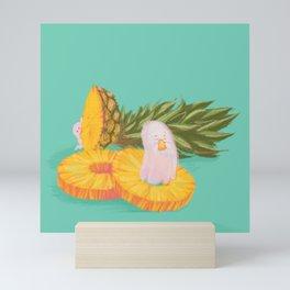 Pineapple Ghost Mini Art Print