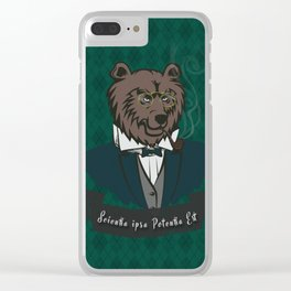 Clever Bear Clear iPhone Case