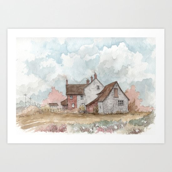 English Farmhouse Art Print