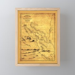 Geographical Map of the Republic of Nicaragua (1855) Framed Mini Art Print