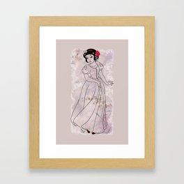 The White Sayuri Framed Art Print