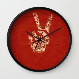 Peace Now, Freedom Now Wall Clock