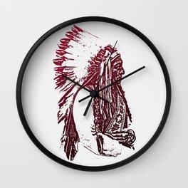 Sitting Bull Wall Clock