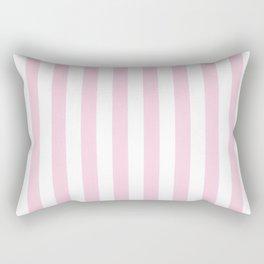 Pastel pink white modern geometric stripes Rectangular Pillow