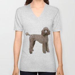 Elegant Poodle Unisex V-Neck
