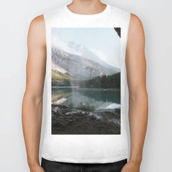 Mountain Lake Vibes III - Landscape Photography Biker Tank