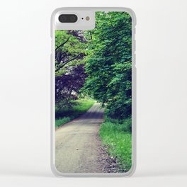 Woodland path Clear iPhone Case