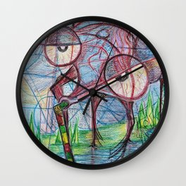 Drunken mosquito Wall Clock