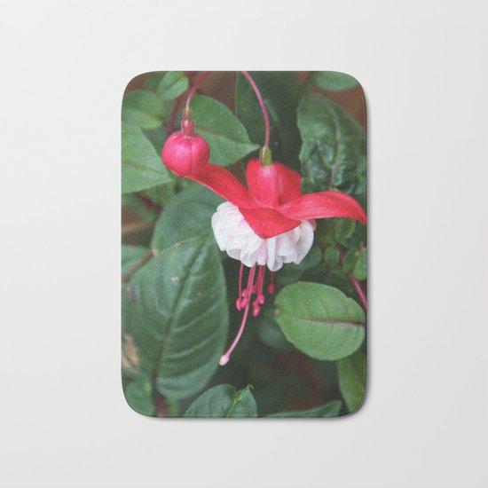 Fuchsia and greens Bath Mat