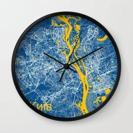 Kiev, Ukraine street map Wall Clock
