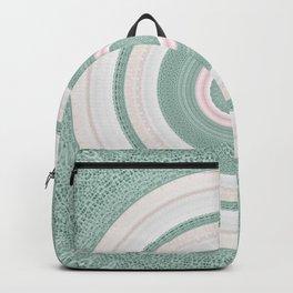 Bohemian Mint Green and Pink Texture Mandala Backpack