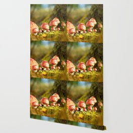 Beautiful but toxic - Fly agaric - Amanita - Autumn illustration - #society6 #buyart Wallpaper