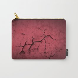 Abstract Texture Red Clay Cracked Wall Carry-All Pouch