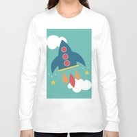 rocket Long Sleeve T-shirts featuring Rocket by Kathrin Legg