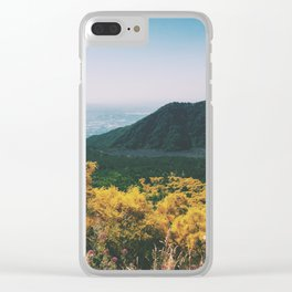 Volcano Wildflowers Clear iPhone Case