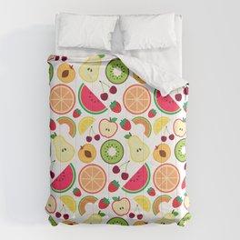 Fruit pattern colorful illustration Comforters