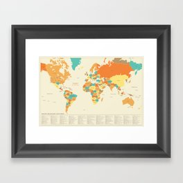 MAP OF IMAGINARY COUNTRIES Framed Art Print