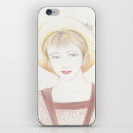 picnic girl iPhone Skin