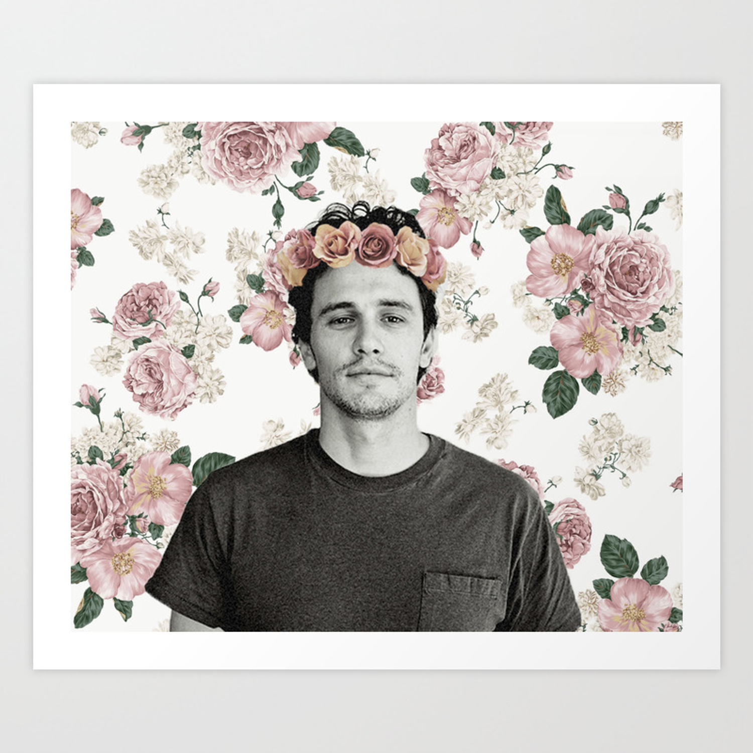 James Franco Rose Flower Crown Tumblr Esque Art Print By