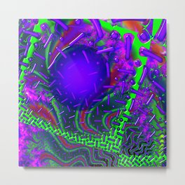 Overdrive 3D Psychedelic Fractal Metal Print