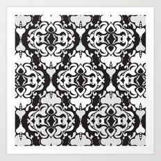 Lace Damask Art Print